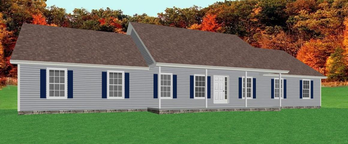 Ranch house plan with full basement the house plan site for Home plans with basement garage