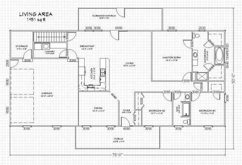 Ranch house plan with full basement the house plan site for House plans with full basement