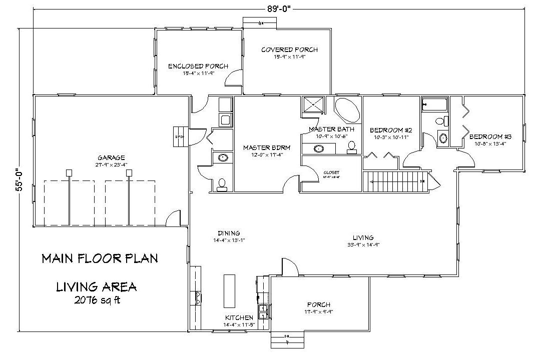 Icf ranch house plan with greatroom the house plan site for Icf building plans