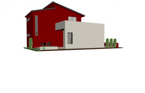 Back of Small House Plan