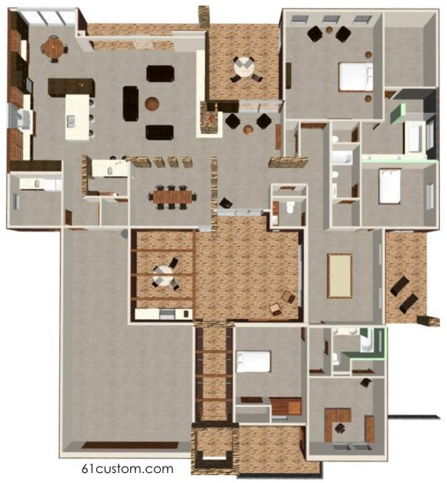 Courtyard house plan modern courtyard house plans for Courtyard house plans