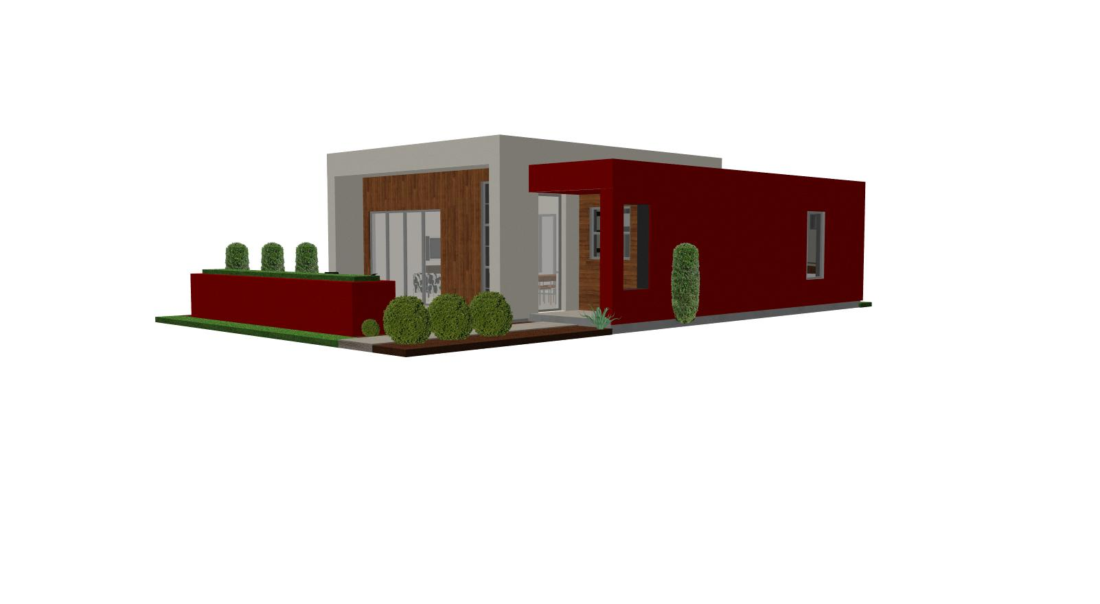Contemporary casita house plan small house plan small for Small contemporary house plans