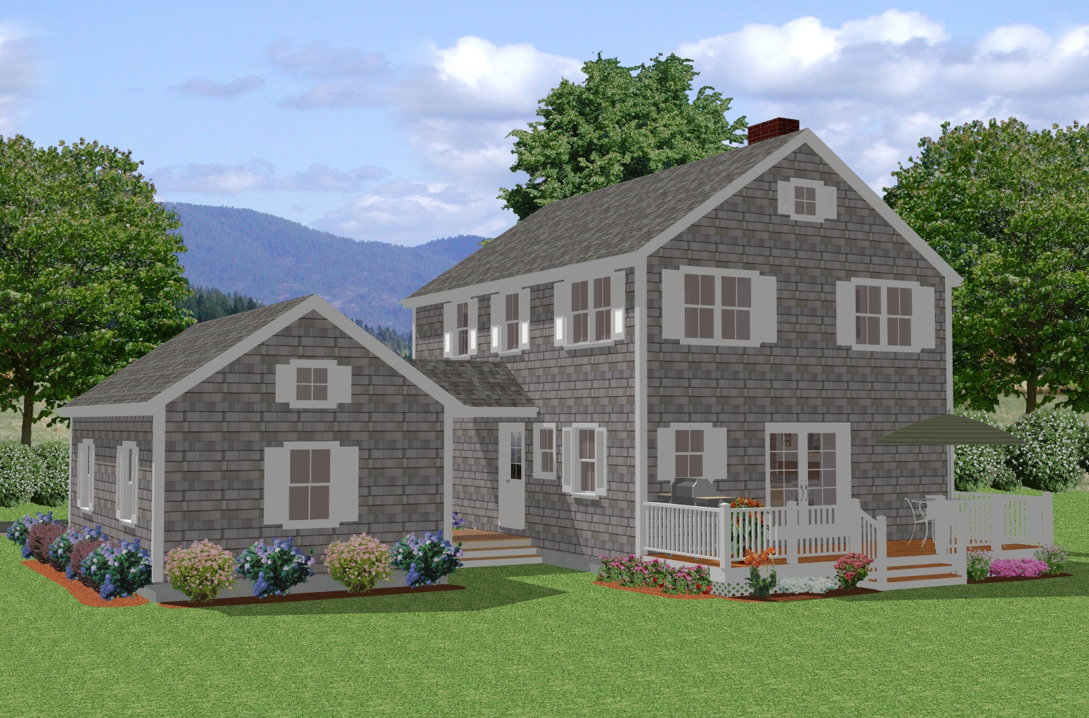New england colonial house plan traditional cape cod for Colonial house plans