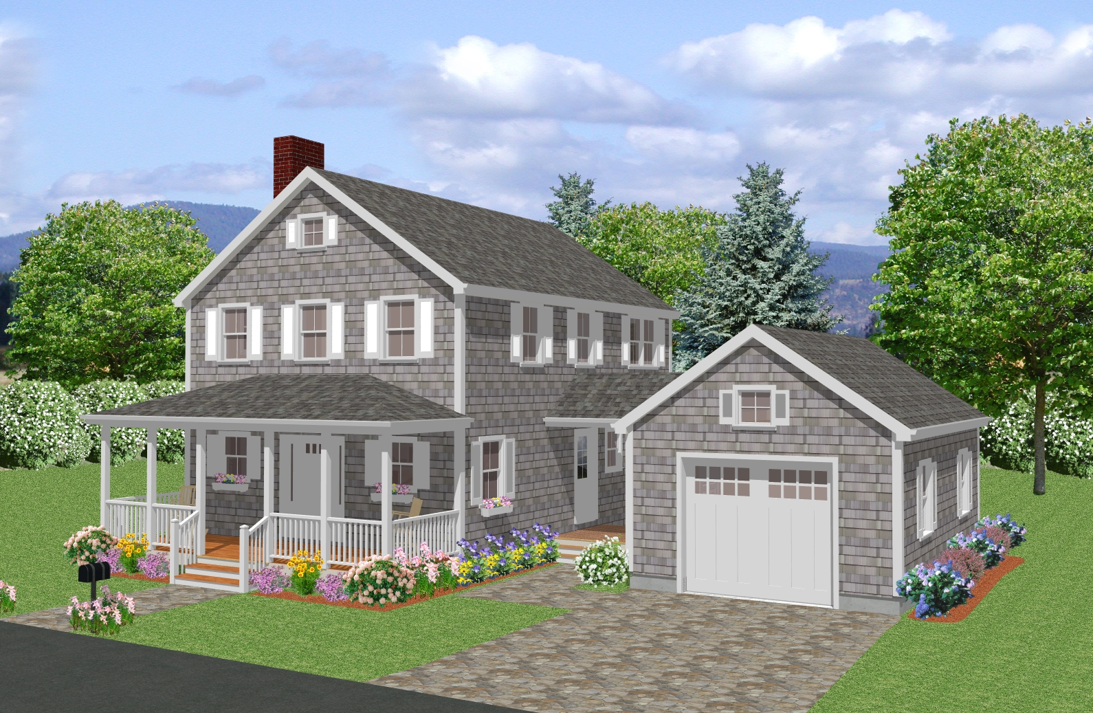 New england colonial house plan traditional cape cod New home plans