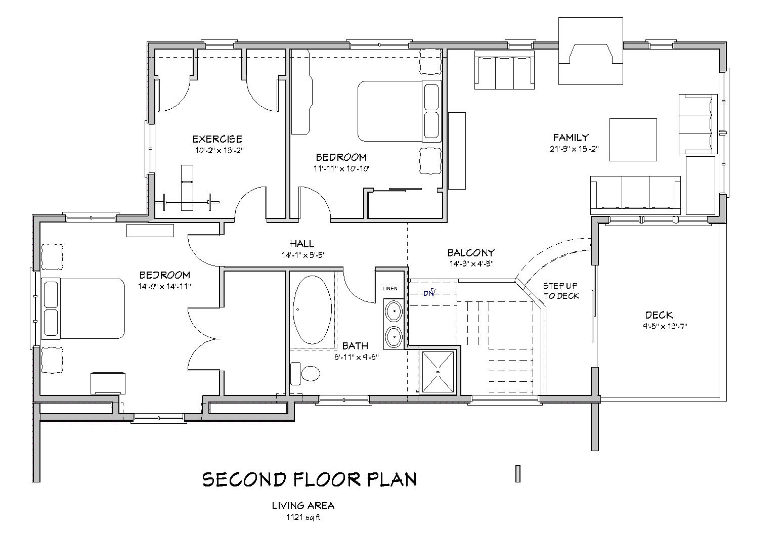 Traditional country house plan d64 2431 country house plans the house plan site - Floor plans for a bedroom house decor ...