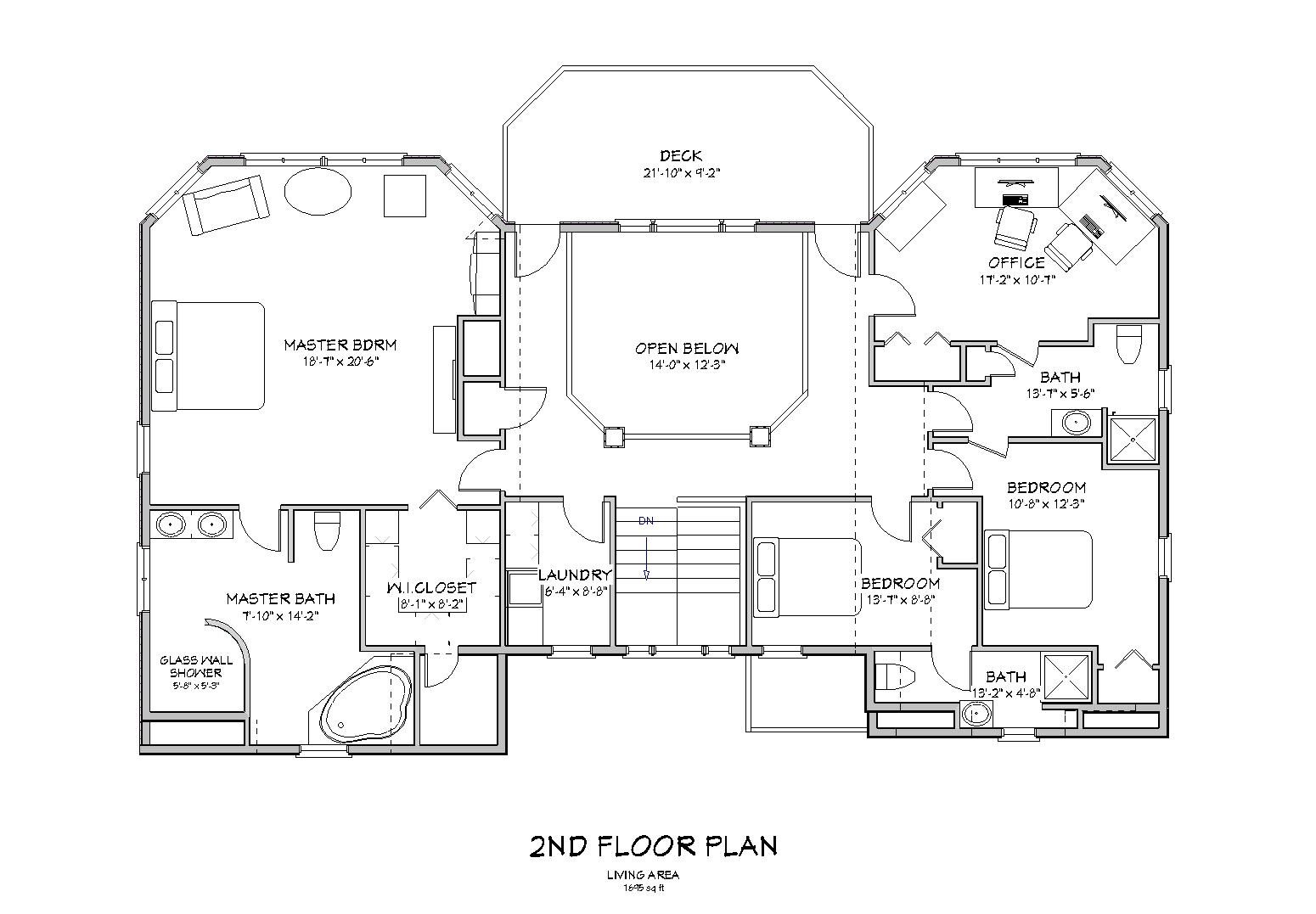 Beach house plan lake house plan cape cod beach house for Beach house floor plans