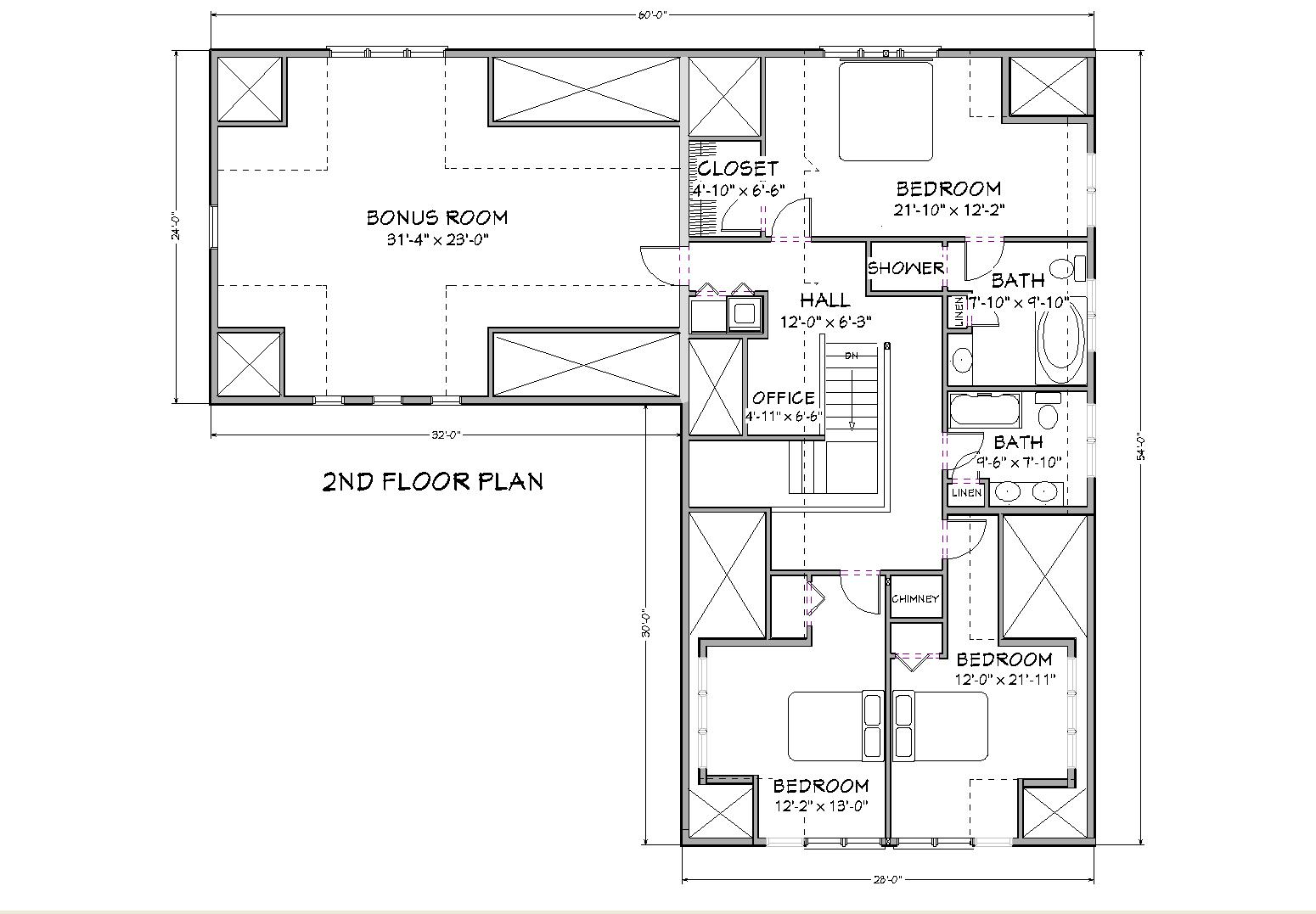3000 square foot home plans floor plans for How big is 2500 square feet