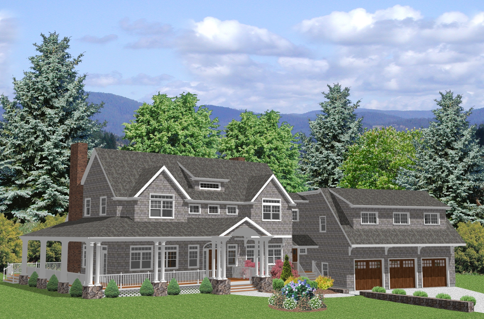 Luxury Cape Cod House Plan Big Country House Plan The