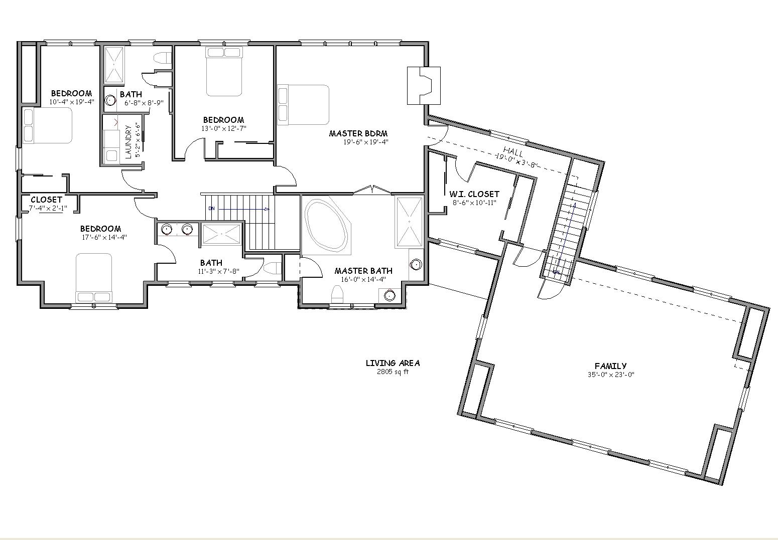 Cape Cod House Plan, Big Country House Plan : The House Plan Site