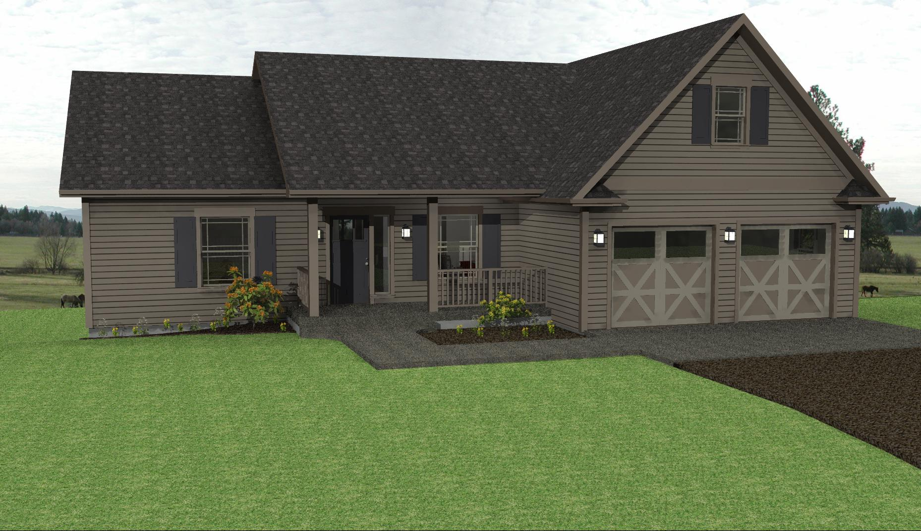 Country lake house plan ranch house plans the house for Small ranch homes