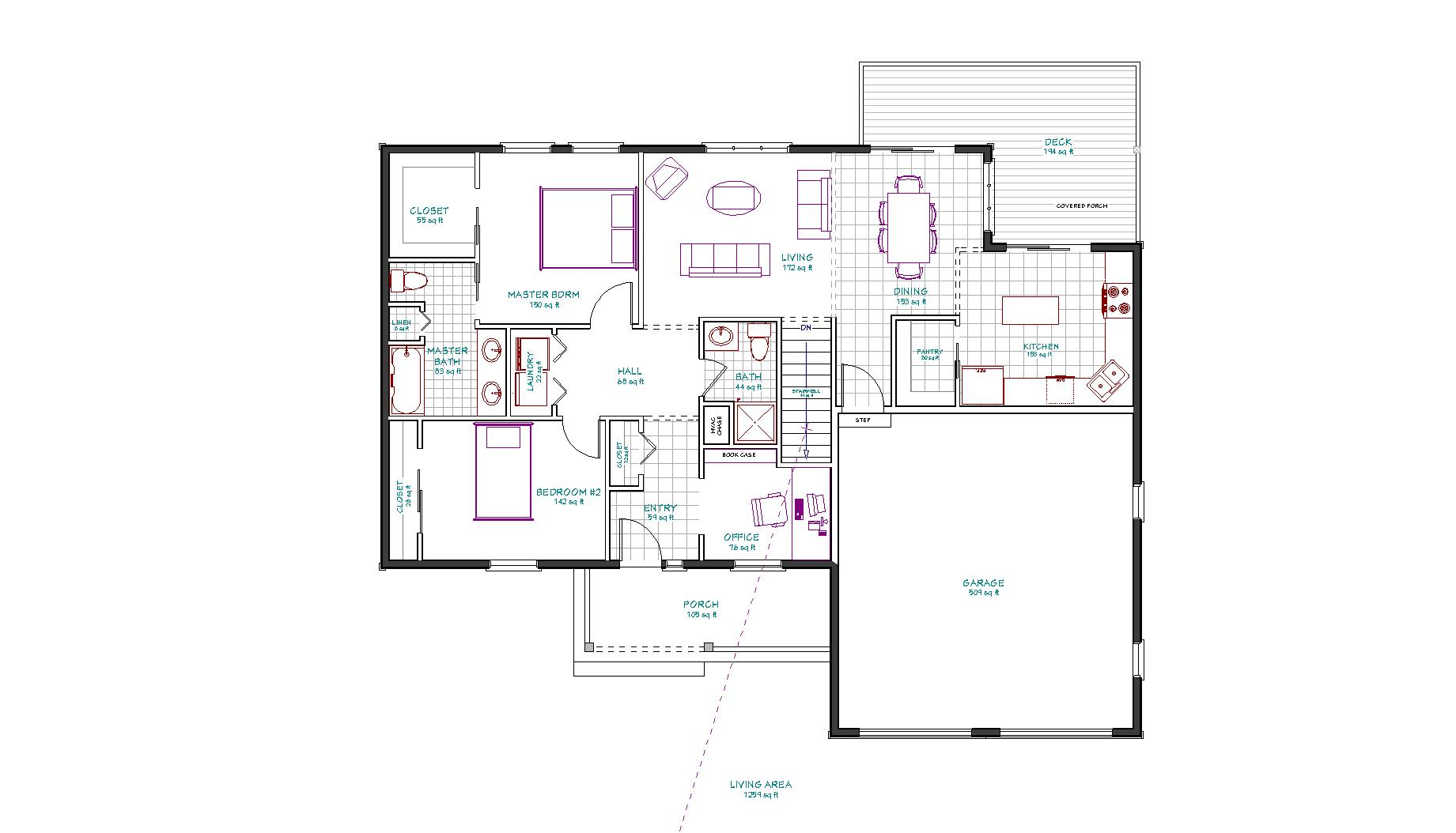 Country lake house plan ranch house plans the house for Lake house floor plans