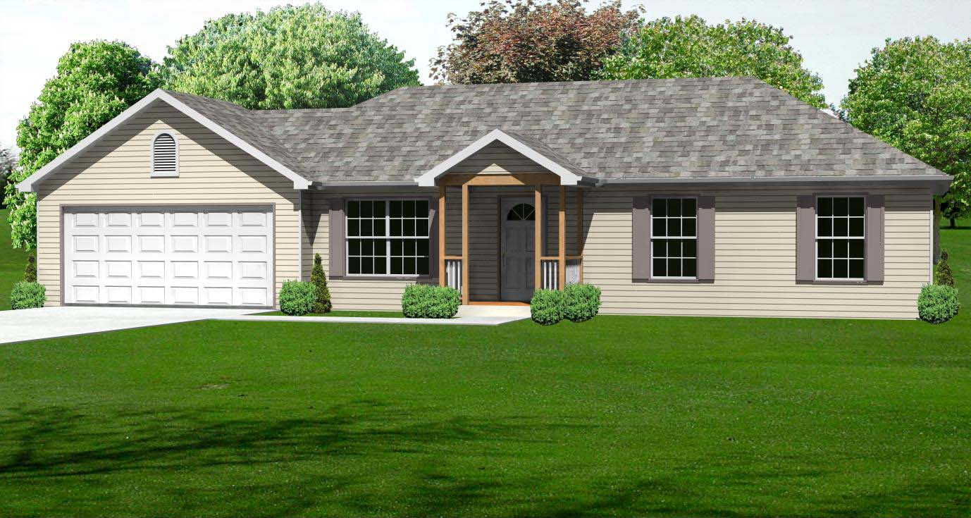 Small house plan small 3 bedroom ranch house plan the for 3 bedroom house designs