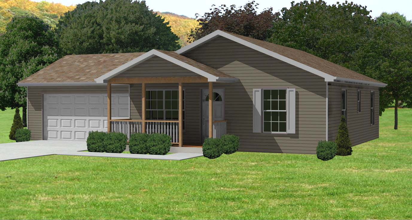 Small house plan d67 884 small 2 bedroom houseplan cabin for Small three bedroom house