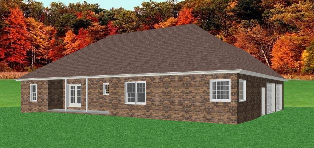 Traditional brick ranch home plan single level ranch home for Brick house designs